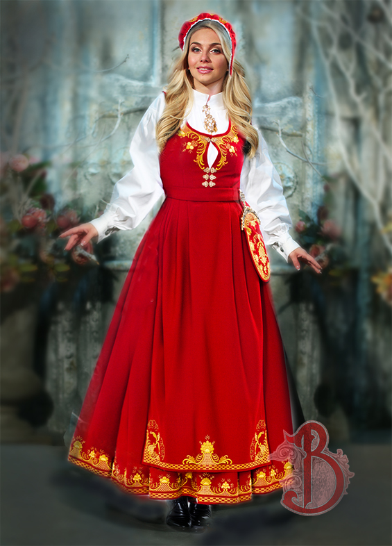 Romerikbunad rød